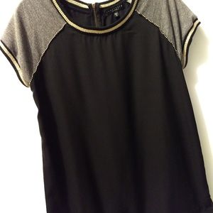 Sanctuary black Tunic with Gold detail.